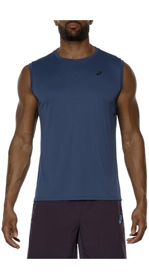 asics Sleeveless hardloopshirt Heren blauw